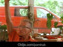 seven grandpas gabg bangs hot juvenile blond at a