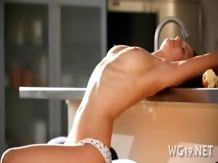 angel plays with large sex-toy