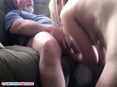dad bonks her younger male paramour