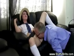 pervy old guy receives fortunate with legal age