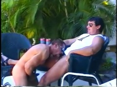 muscled dad bears enjoying sleazy outdoor dong