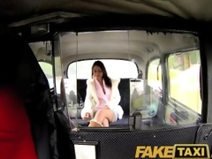 faketaxi enchanting brunette hair falls for sugar