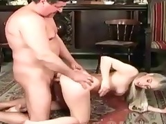 old dude fucks youthful cutie on the bed