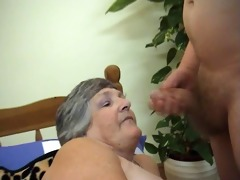 106 years old greedy grandma libby 9some