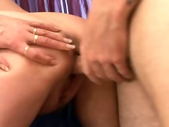 golden-haired bbw-granny drilled by younger
