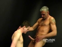 lewd dad stuffing his giant cock down this twinky