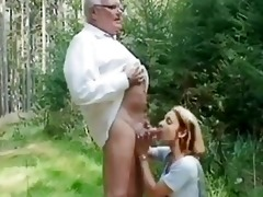 juvenile cutie helping an old stud wi...