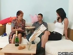 he is receives enticed by his gfs old mommy