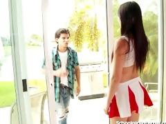 schoolgirl wench acquires preggo from unprotected