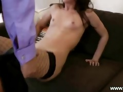 youthful dark brown gives bj and hardcore old