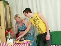 he is is lured into sex by corpulent mother in law
