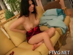 beauty plays with 4 dildos