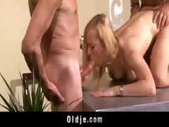 hot old youthful trio fuck