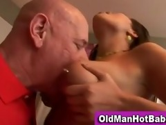 old chap fellatio by sexy younger playgirl