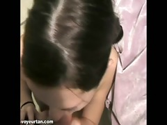 pov of small legal age teenager jade engulfing on