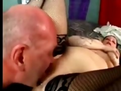 goth big beautiful woman drilled by old chap