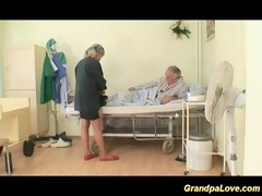 granddad honey fucking a fine brunette hair nurse