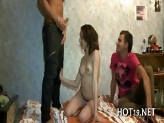 valuable group sex with legal age teenager girl