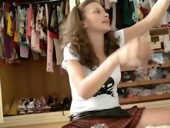 avid beautiful teen practices with jock