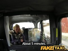 faketaxi juvenile golden-haired takes on old dong