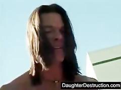 cute teen daughter roughly hatefucked