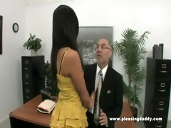 juvenile lustful secretary bonks old boss