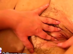 three-some with old aged younger mature and their