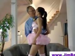 hawt ballerina engulfing off old man
