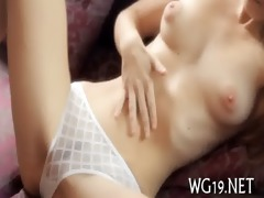 cutie shows her delights