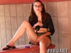 playgirl fondles moist vagina