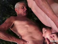 grandpas and a sexy 36yo playgirl