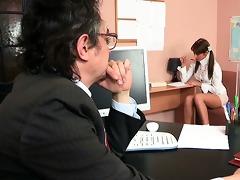 8some lesson with elderly teacher