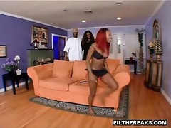 mamma teaches daughter to fuck a thick darksome