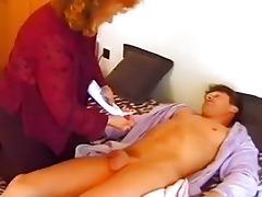 older tart jumps into bed with juvenile stud