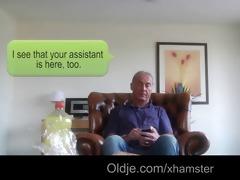 oldman lured in fuck by nymphomaniac hottie