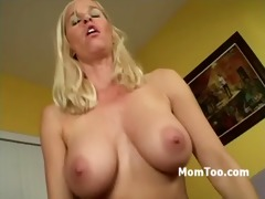 breasty golden-haired mamma and horny daughter