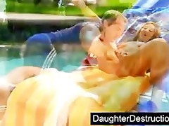 cute daughter screwed by immodest man