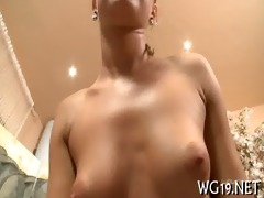 girl fondles juicy muff