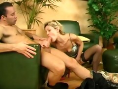 blond cougar teaches younger chap
