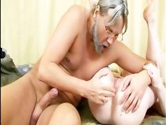 juvenile gal copulates old boy