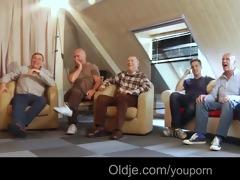 six oldmen team fuck juvenile blonde