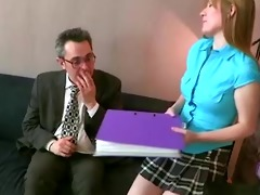 youthful redhead student seduces her old college