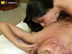 hawt daughter seducing a wicked older housewife