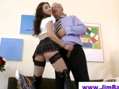 mature boy fucks younger fishnet chick