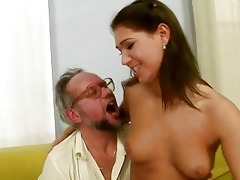 granddad enjoying wicked sex with sexy legal age