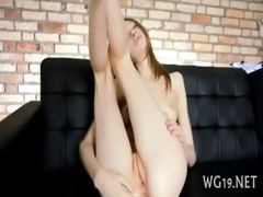beauty plays with sex toy