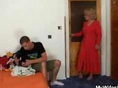 mother in law bonks him and his wife comes in