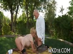 angel performs oral stimulation sex