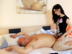 juvenile slutts cleaning having threesome with