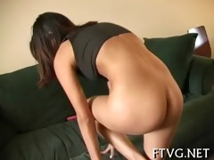 hotty plays with sex toy